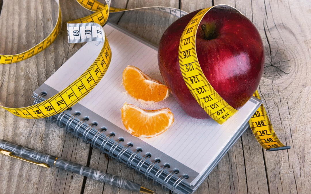 weight loss measure tape apple